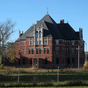 Norwich State Hospital, Administration Building, October 2013