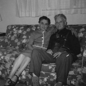 Grandma and Grandpa Tillotson, in1956 (before they remarried).