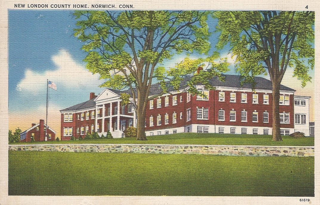Postcard, ca 1935, New London County Temporary Home, Norwich Connecticut