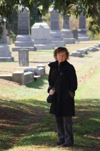 Standing in the old St. James Cemetery, Danielson, Connecticut (photo by Robert Cantor, Oct 2013)
