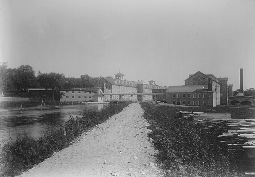 Quinebaug Mill and canal, ca. 1901. Danielson, Connecticut