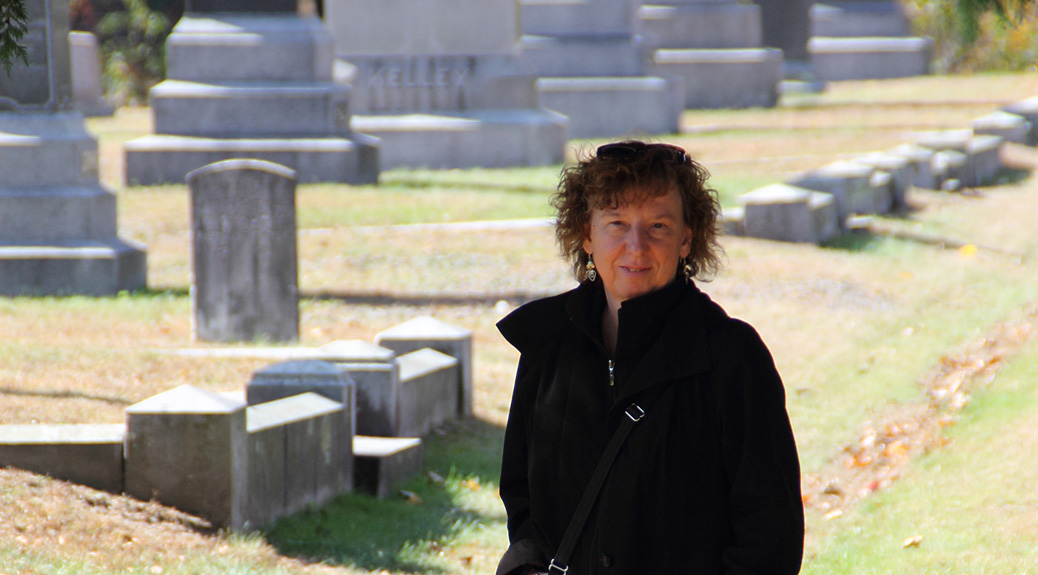 Standing in the old St. James Cemetery (photo by Robert Cantor, Oct 2013)