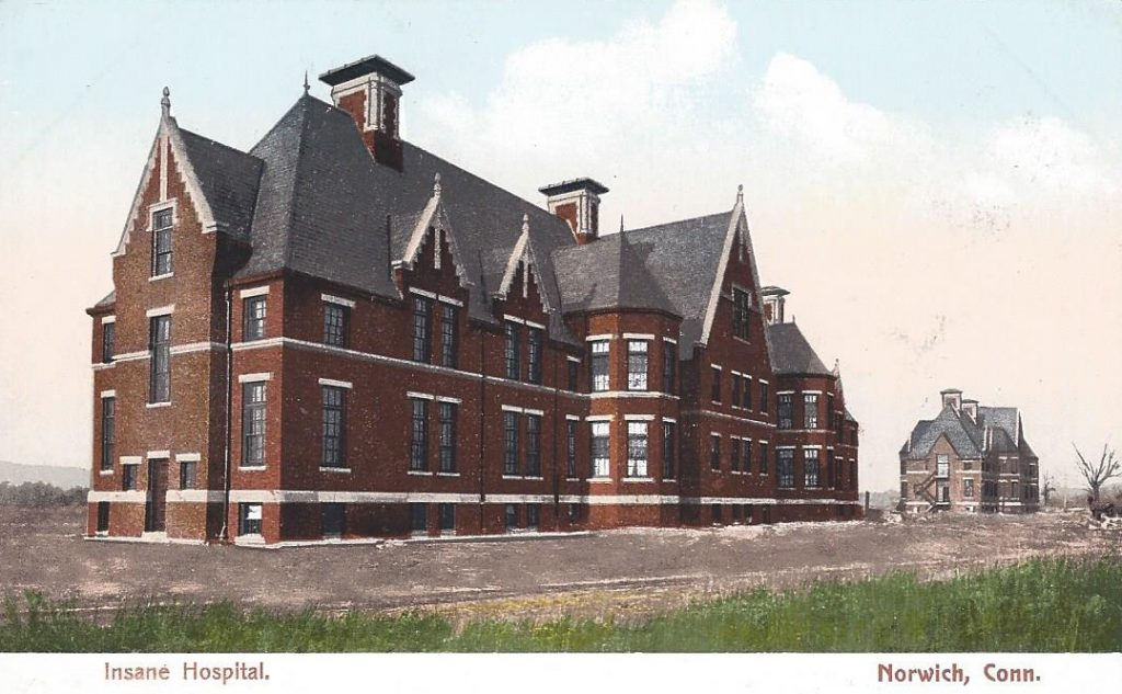 Postcard, ca. 1907, Norwich State Hospital for the Insane