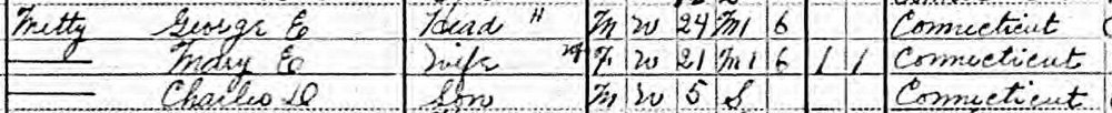 George Metthe and Family in the U.S. Census of Population. Year: 1910