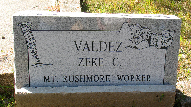 Zeke C. Valdez, Mt. Rushmore Worker. Keystone Cemetery, Keystone, South Dakota