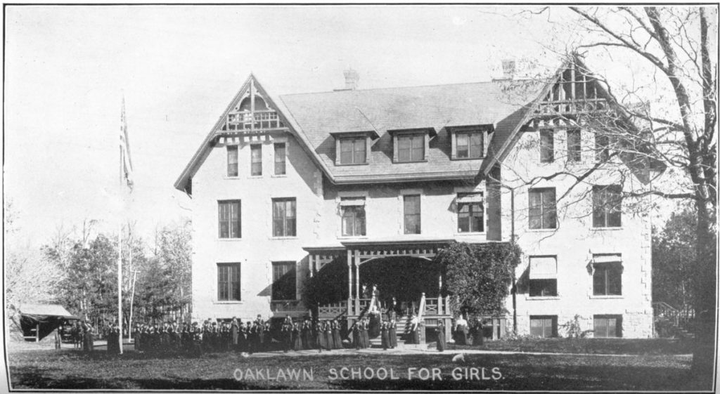 Oaklawn School for Girls, ca. 1901. Board of State Charities and Corrections. Annual Report, 1901. Rhode Island State Archives. https://catalog.sos.ri.gov/repositories/2/digital_objects/378 Accessed May 10, 2019.