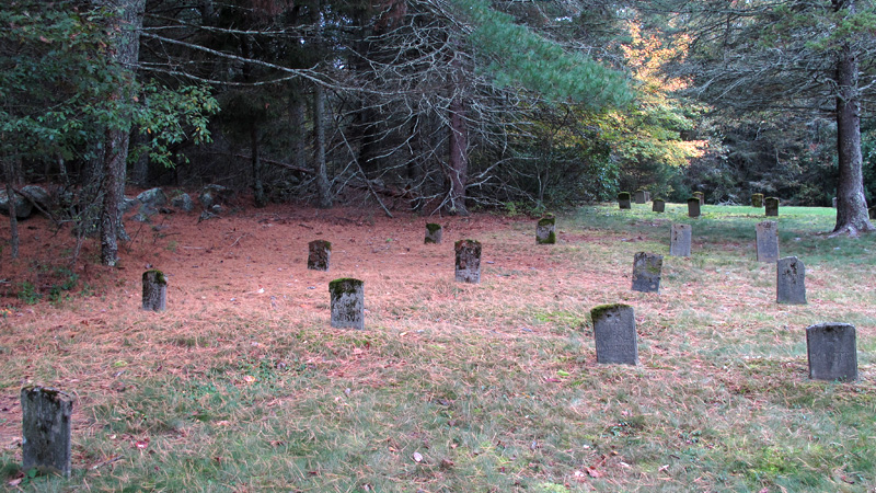 Exeter School Cemetery, Exeter, Rhode Island. October 2012