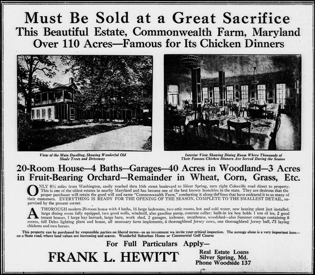Display advertisement, Evening Star, May 22, 1927.