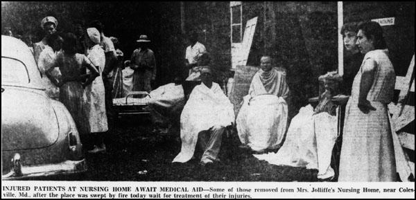 Fire at Jolliffe Nursing Home; Evening Star, September 18, 1951.