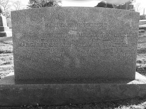 Gravestone for the Woman's Commonwealth at Rock Creek Cemetery (Section F, Lot 13).